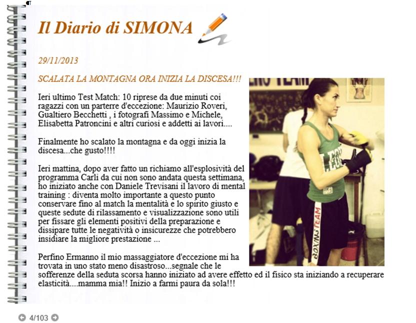 Diario di Simona - Training Mentale
