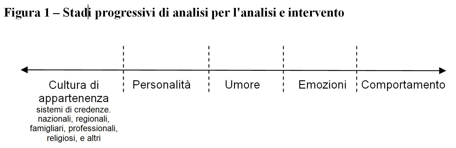 stadi di analisi cultura - personalità -  umore - emozioni - comportamento