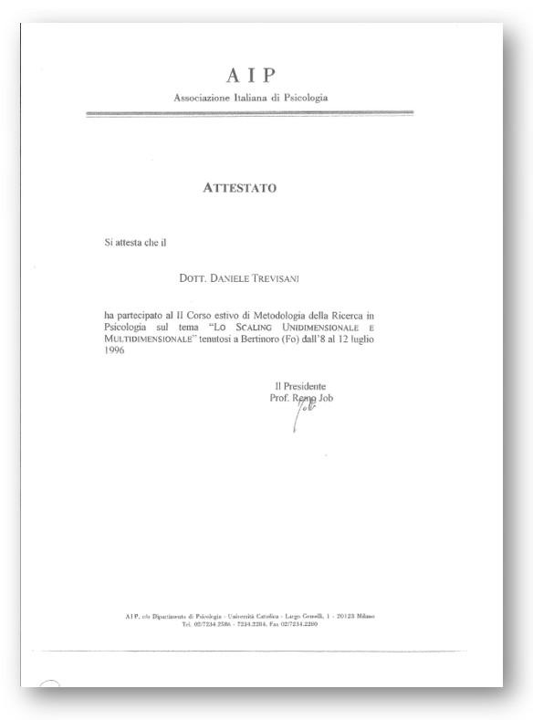 ATTESTAZIONE SUMMER SCHOOL IN METODOLOGIA DELLA RICERCA IN PSICOLOGIA, ASSOCIAZIONE ITALIANA DI PSICOLOGIA (UNIVERSITÀ DI BOLOGNA E UNIVERSITÀ DI PADOVA)