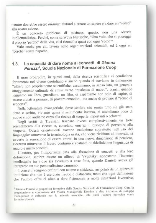 """INIZIO DELLA PREFAZIONE DI GIANNA PERUZZI (SCUOLA NAZIONALE DI FORMAZIONE COOP), SUL TESTO """"REGIE DI CAMBIAMENTO"""""""